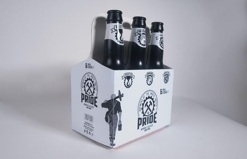 Logotipo, etiquedado y packaging de Cerveza Pride 16