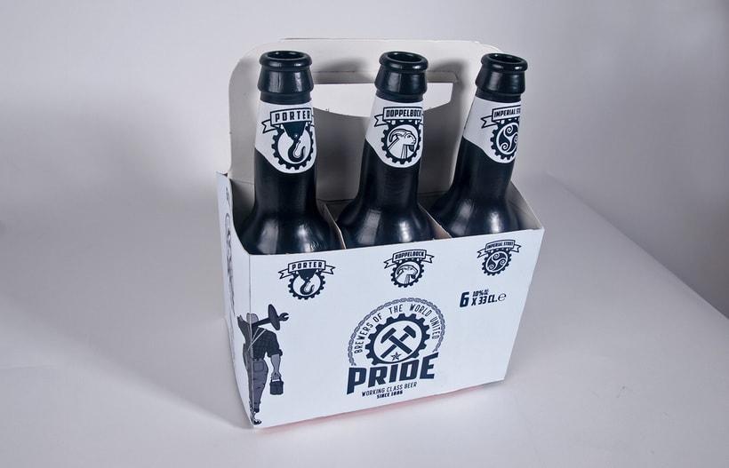 Logotipo, etiquedado y packaging de Cerveza Pride 17
