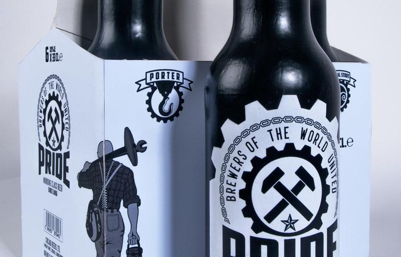Logotipo, etiquedado y packaging de Cerveza Pride 19