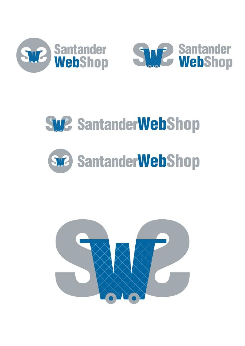 Logotipo de Santander Web Shop 4
