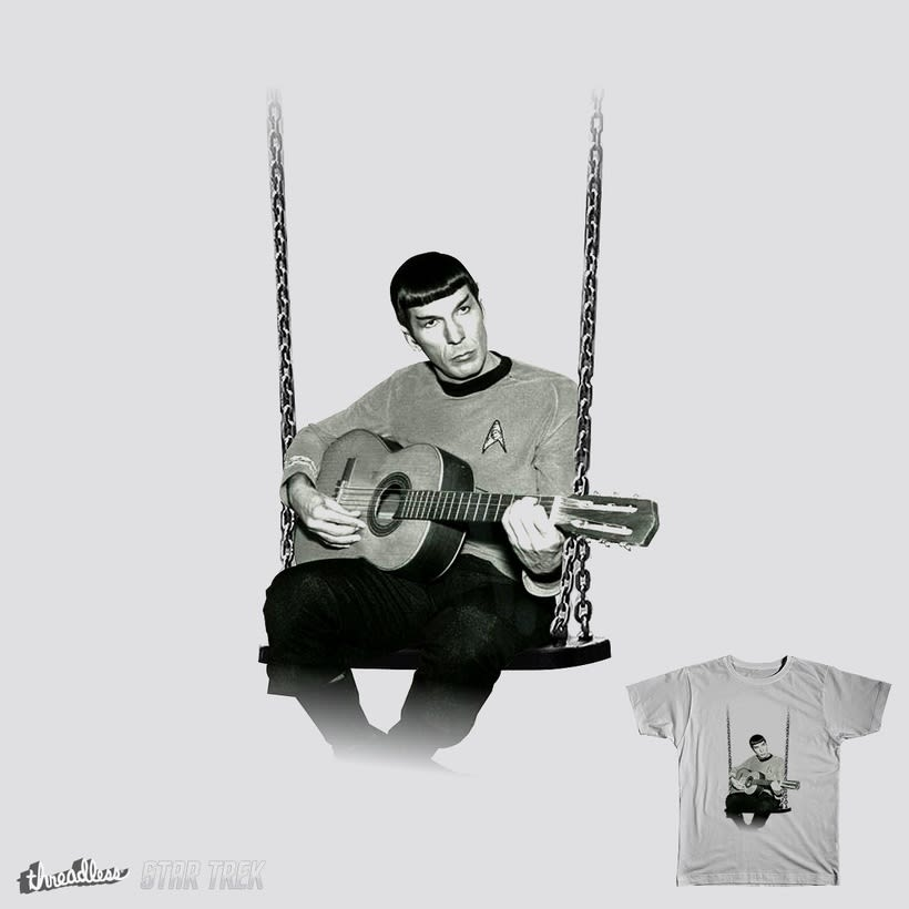 Camiseta de Star Trek de Spock tocando la guitarra 1