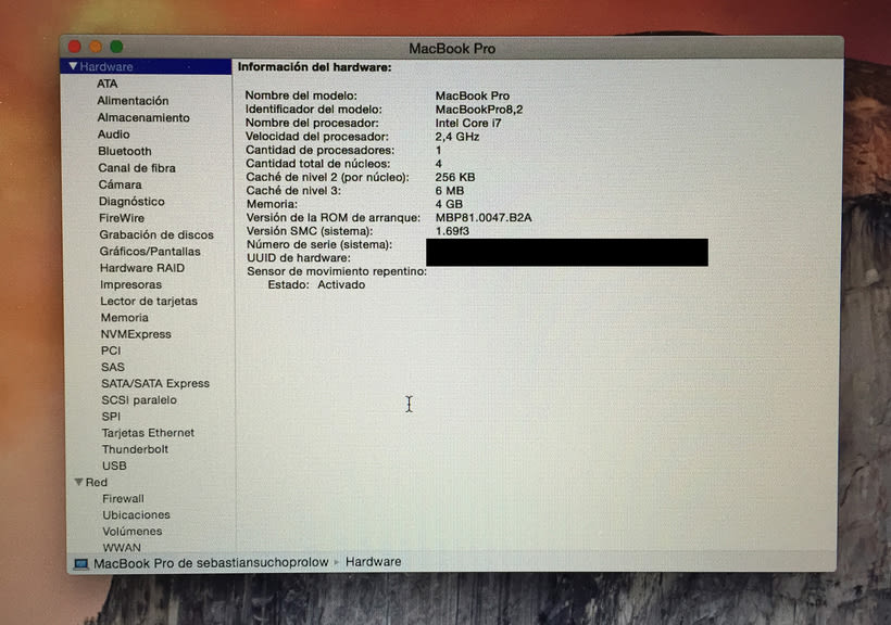 Macbook Pro 2011 i7 Quad 2.4G con antiglare 3