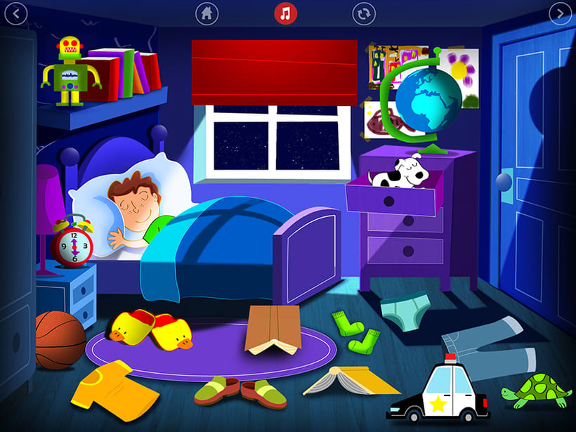 Bedtime is fun! iOS & Android App 2