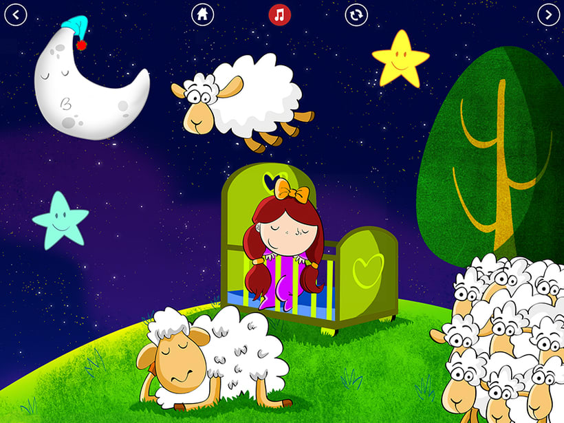 Bedtime is fun! iOS & Android App 3