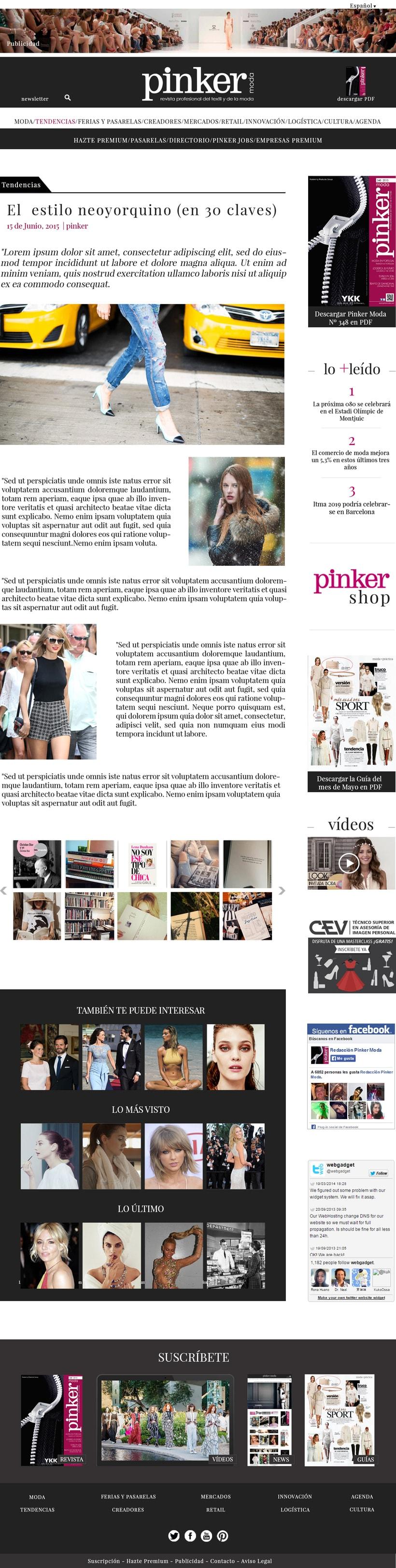 WEB LAYOUT - Pinker moda 1