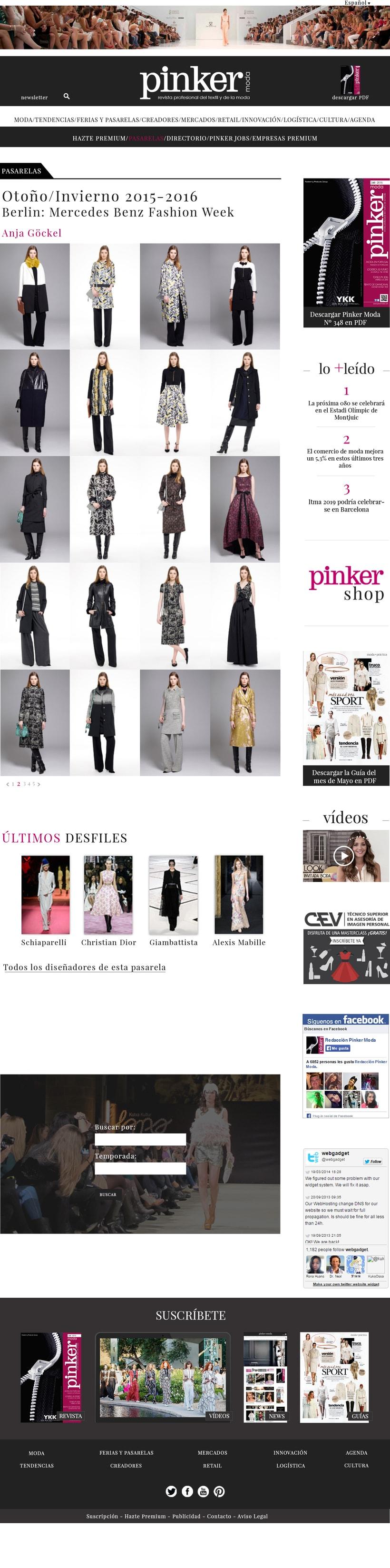 WEB LAYOUT - Pinker moda 2