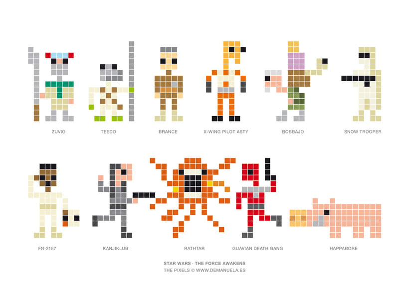Star Wars Pixels Icons 1