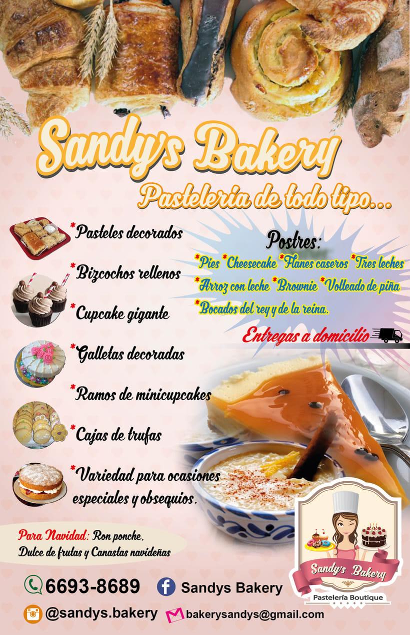 """Material Publicitario y marca de """"Sandy Bakery"""" Pasteleria de Panamá 1"""