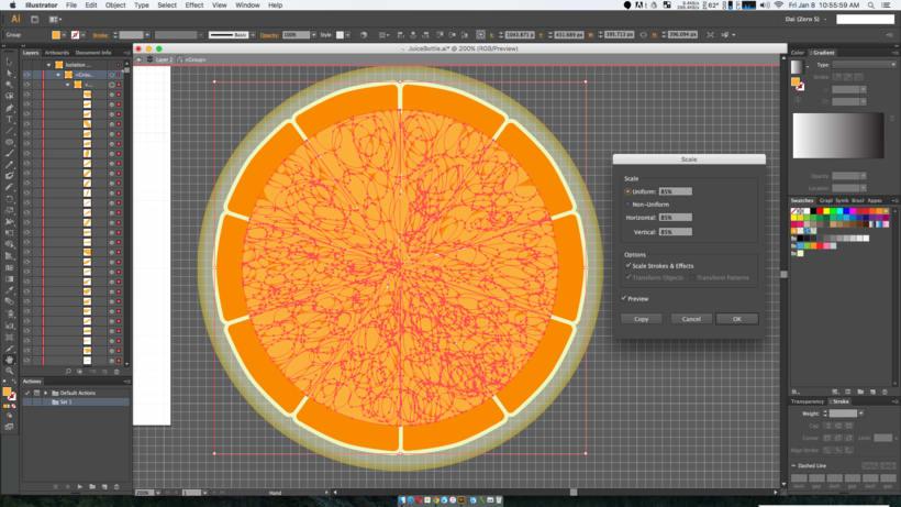 Al escalar en Illustrator CS6 1