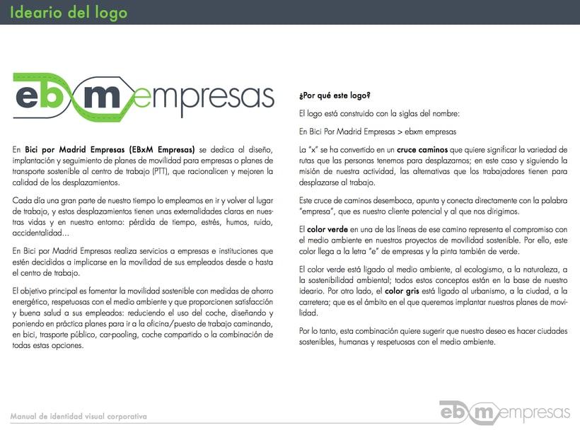 Manual de identidad visual En Bici por Madrid Empresas 3