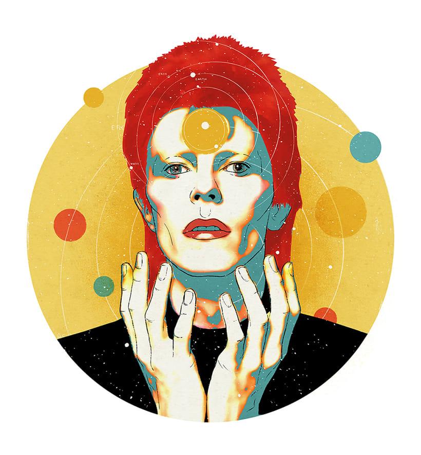 Ilustraciones tributo a David Bowie 1