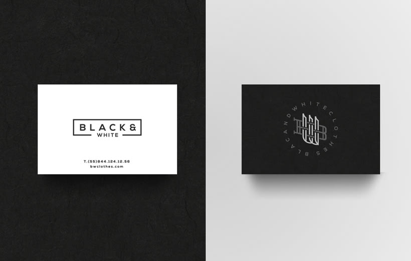 B&W Clothes Branding 2