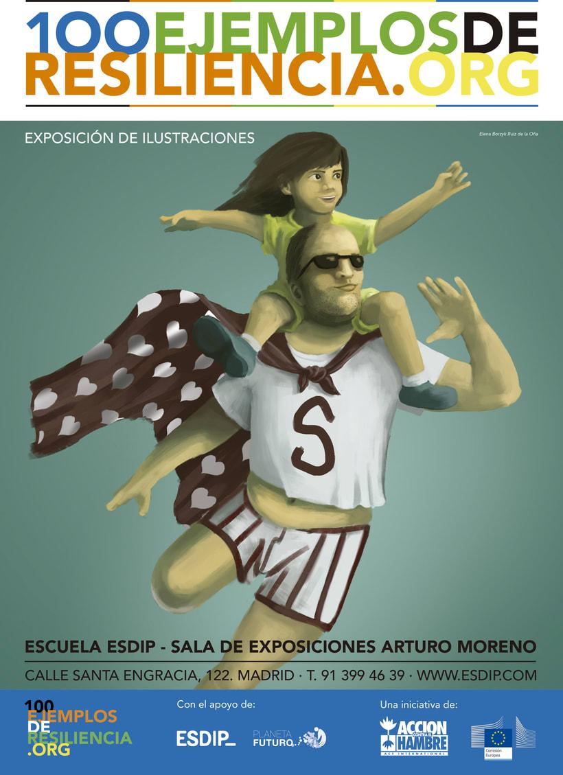 """Exposición de ilustraciones """"100 Ejemplos de Resiliencia"""" de Acción contra el Hambre 1"""