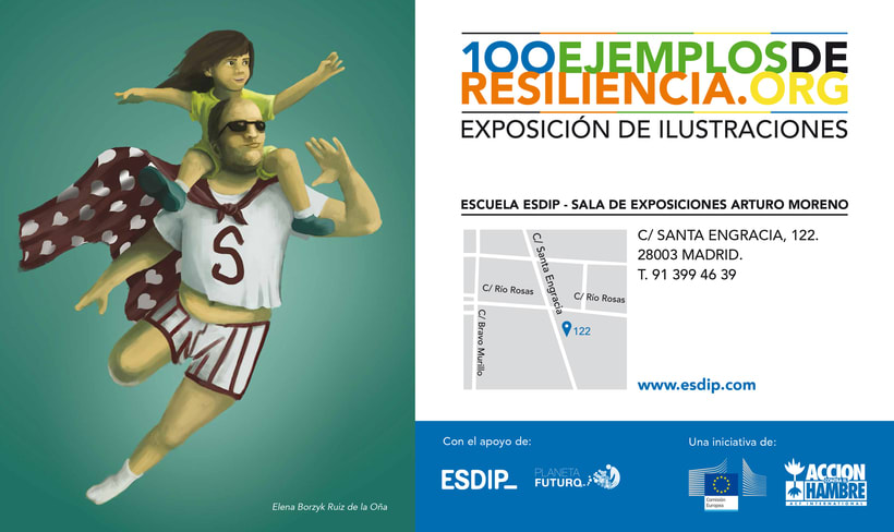 """Exposición de ilustraciones """"100 Ejemplos de Resiliencia"""" de Acción contra el Hambre 2"""