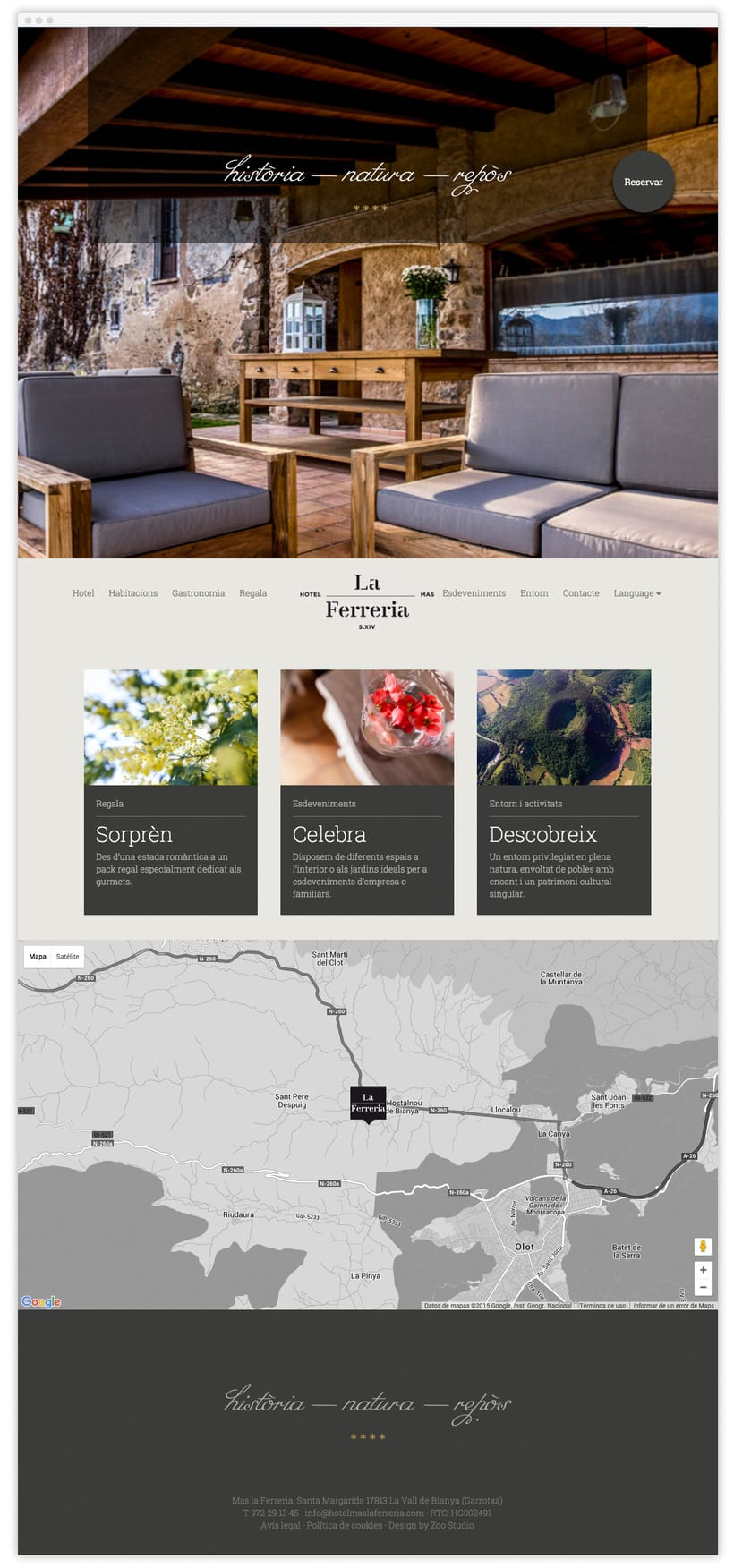 Hotel Mas la Ferreria Web 2