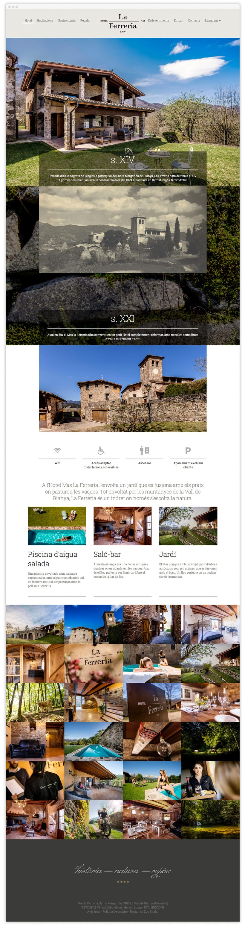 Hotel Mas la Ferreria Web 3