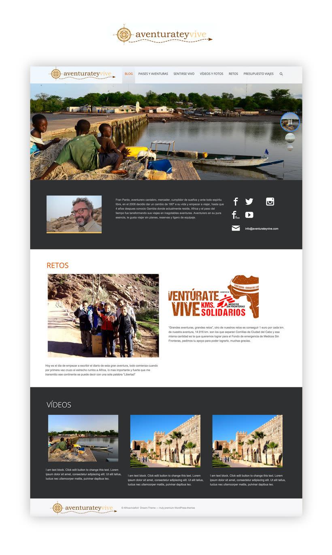 Web - BLOG - Wordpress - aventurateyvive.com 0