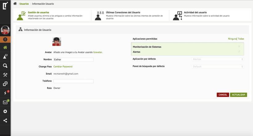 Design back end for Web App - logtrust 9