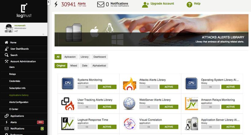 Design back end for Web App - logtrust 8
