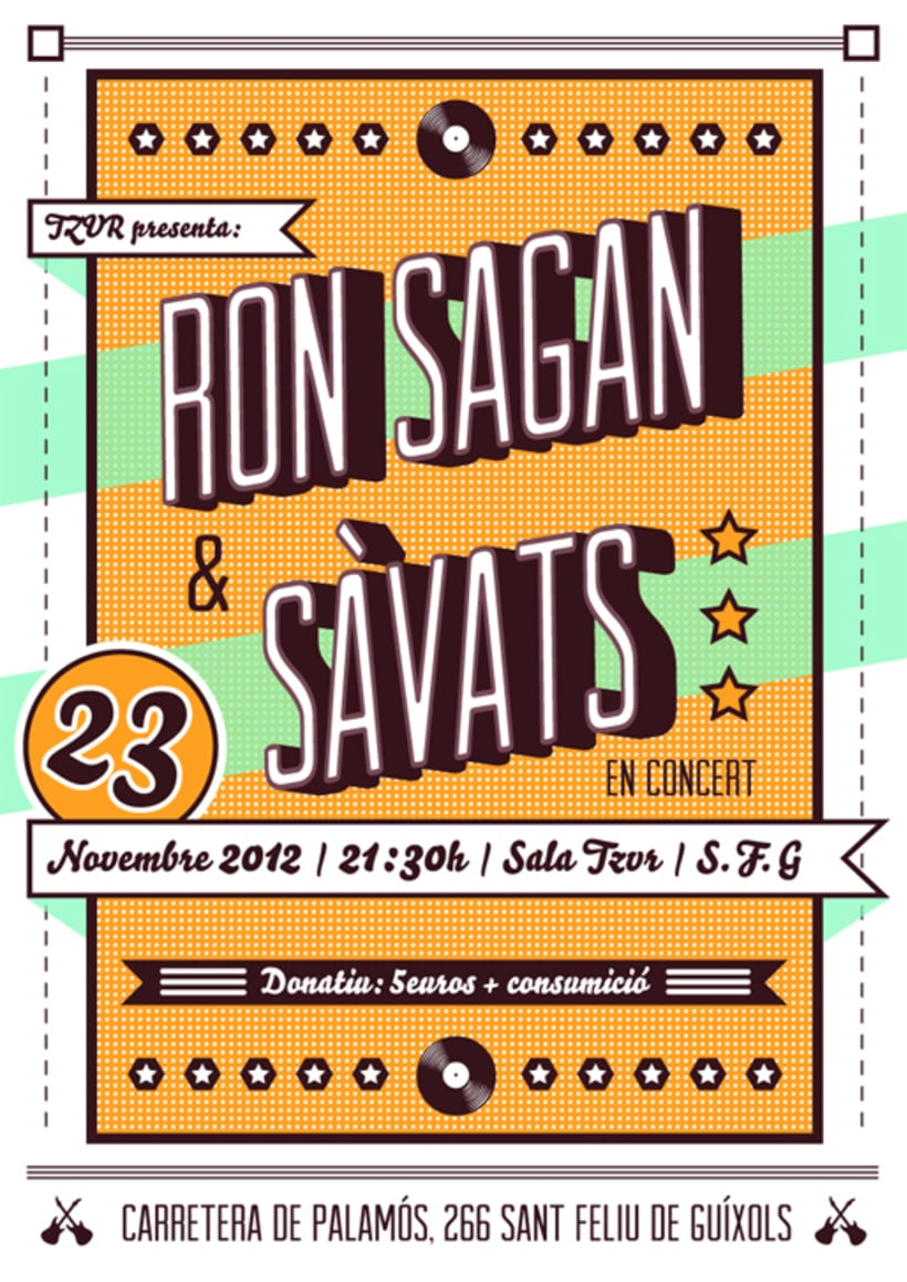 Cartel RON SAGAN + SÁVATS -1