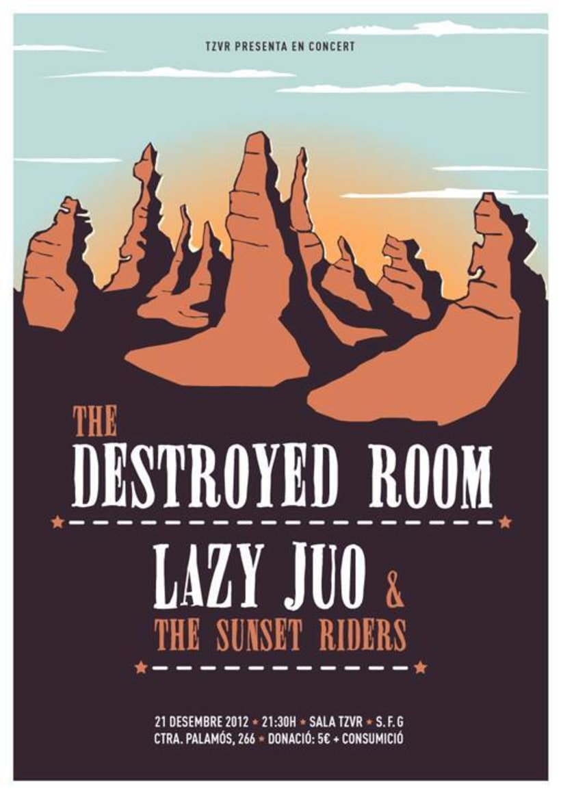 Cartel THE DESTROYED ROOM + LAZY JUO -1