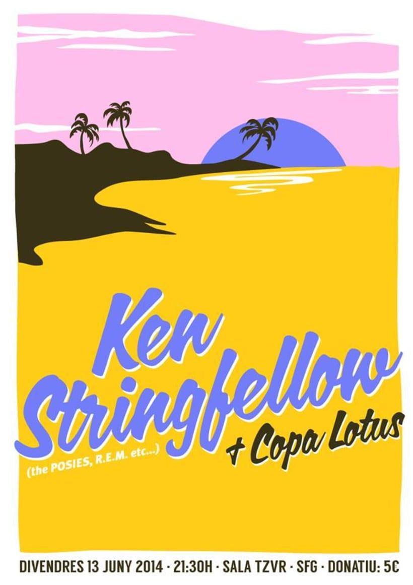 Cartel KEN STRINGFELLOW + COPA LOTUS -1