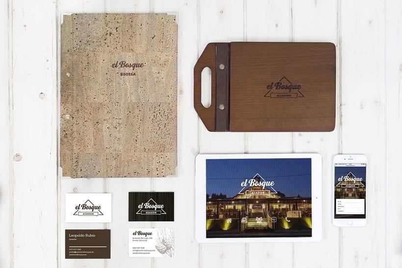 Asador El Bosque - Branding / Diseño de producto 2
