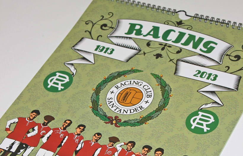Calendario CENTENARIO REAL RACING CLUB / 1913-2013 1