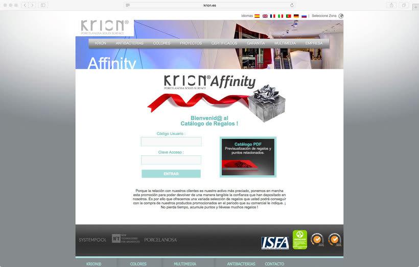 Krion affinity. Aplicación para fidelización 0