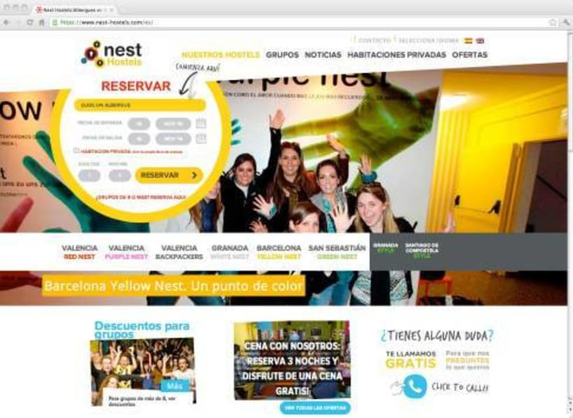 Nest Hostels. Web de hostels en España 0