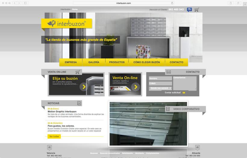 Interbuzon. Página web comercialización buzones 0