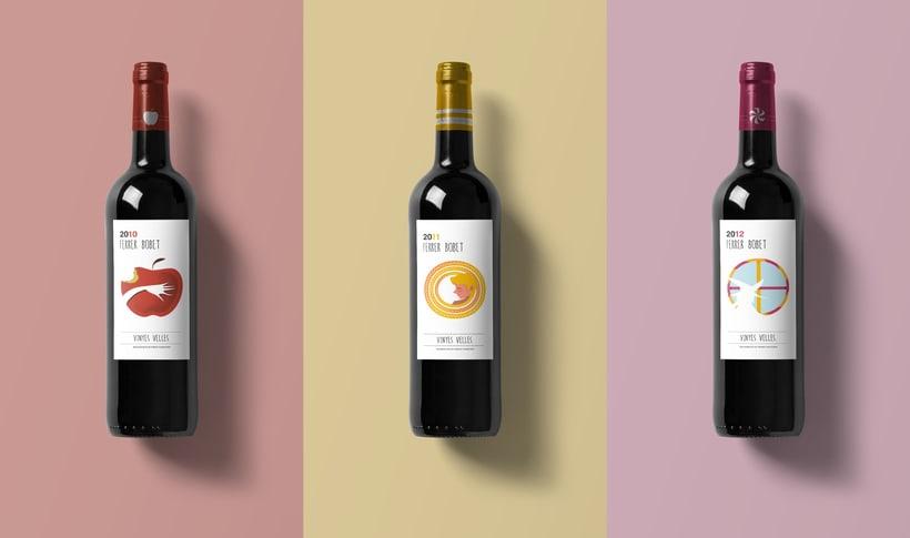 Rediseño etiqueta vino FERRER BOBET  0