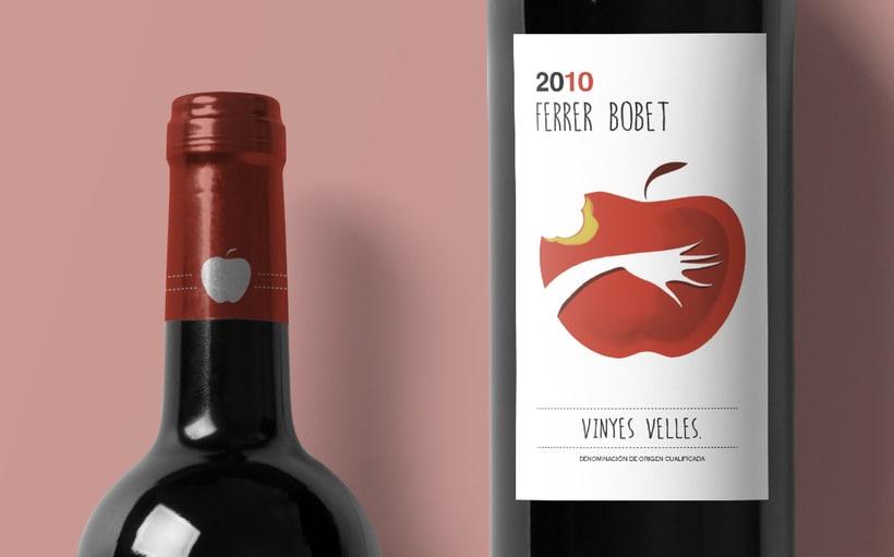 Rediseño etiqueta vino FERRER BOBET  1