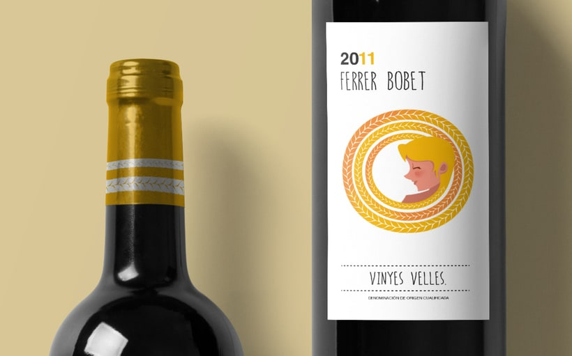 Rediseño etiqueta vino FERRER BOBET  2
