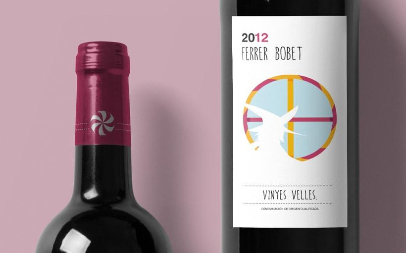 Rediseño etiqueta vino FERRER BOBET  3