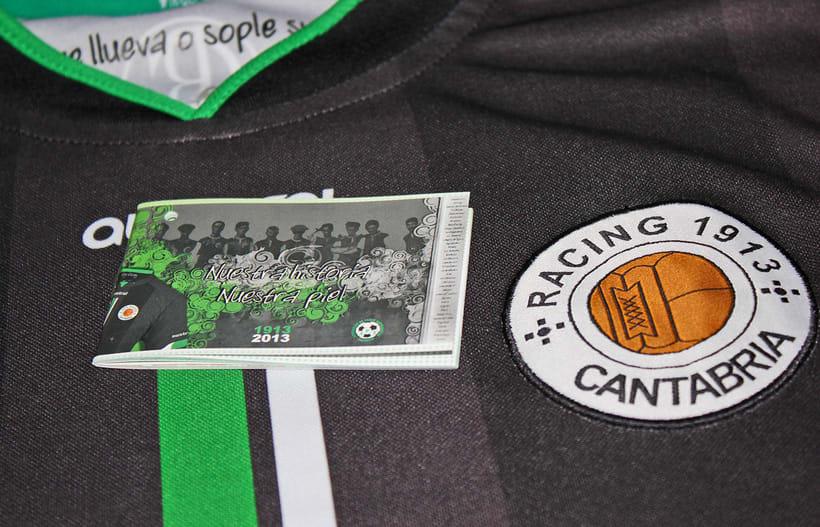 Librillo-Etiqueta para la camiseta del Centenario de Real Racing Club 0