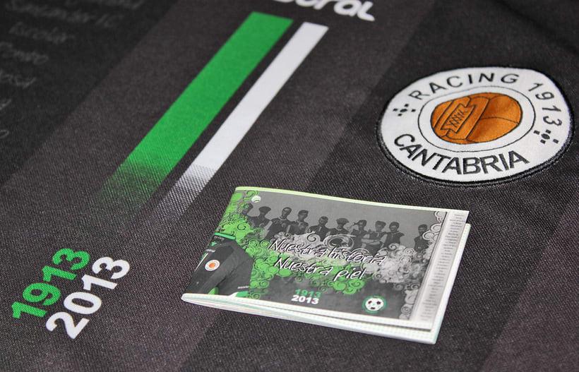 Librillo-Etiqueta para la camiseta del Centenario de Real Racing Club 1