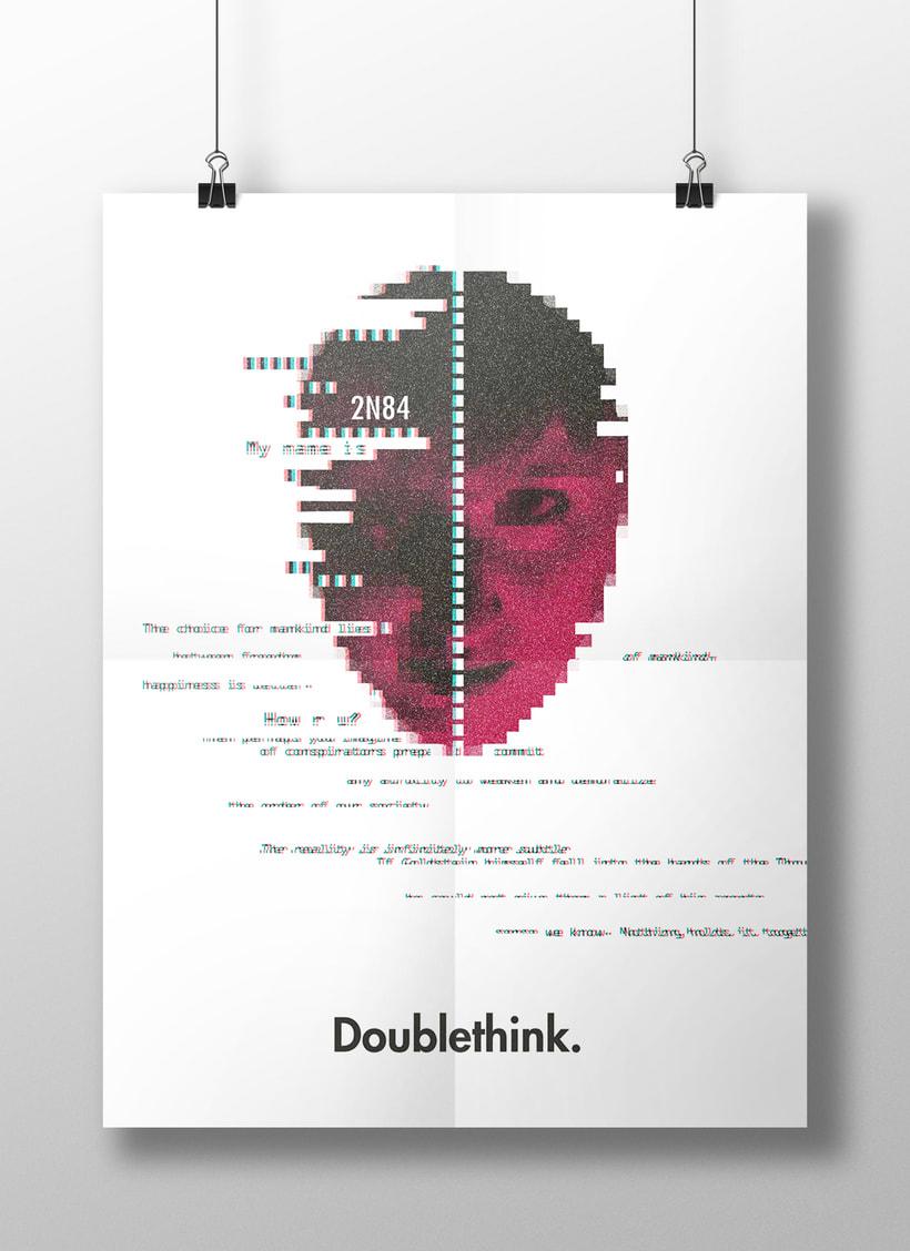 Diseño de cartel inspirado en Orwell  1