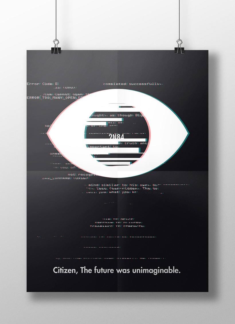 Diseño de cartel inspirado en Orwell  0