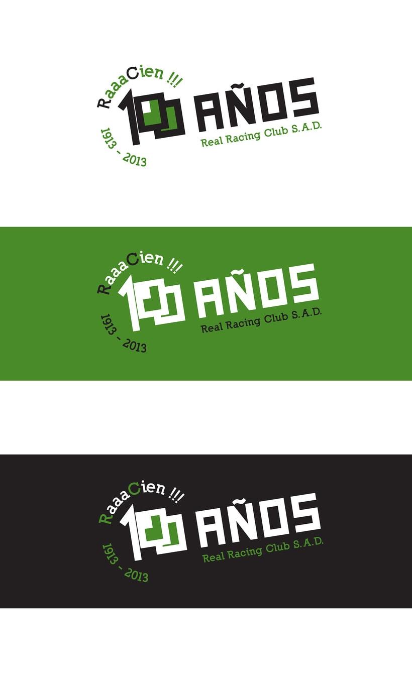 Propuesta de logotipo. Centenario Real Racing Club 1913-2013 2