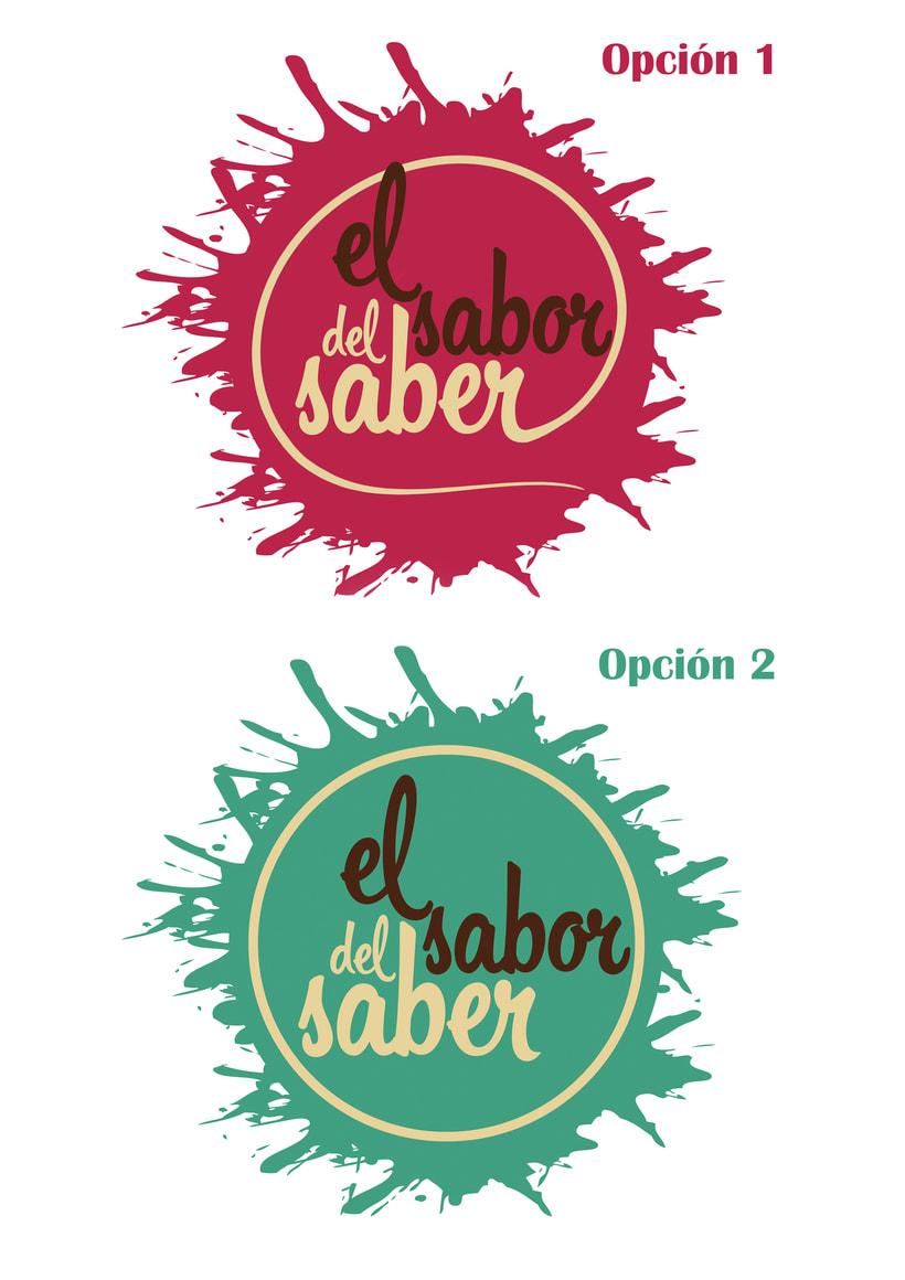 """Logotipo """"el sabor del saber"""" 0"""