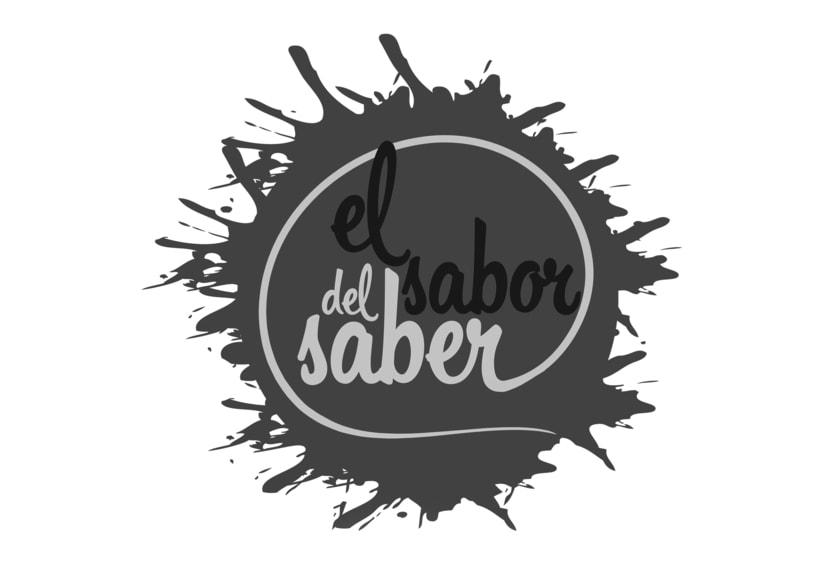 """Logotipo """"el sabor del saber"""" 1"""
