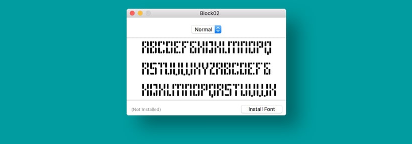 Block 02 (free font) 5