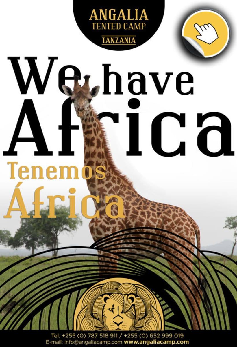 ANGALIA, hotel en Tanzania. Creación de la imagen para el hotel y diferentes aplicaciones. 1