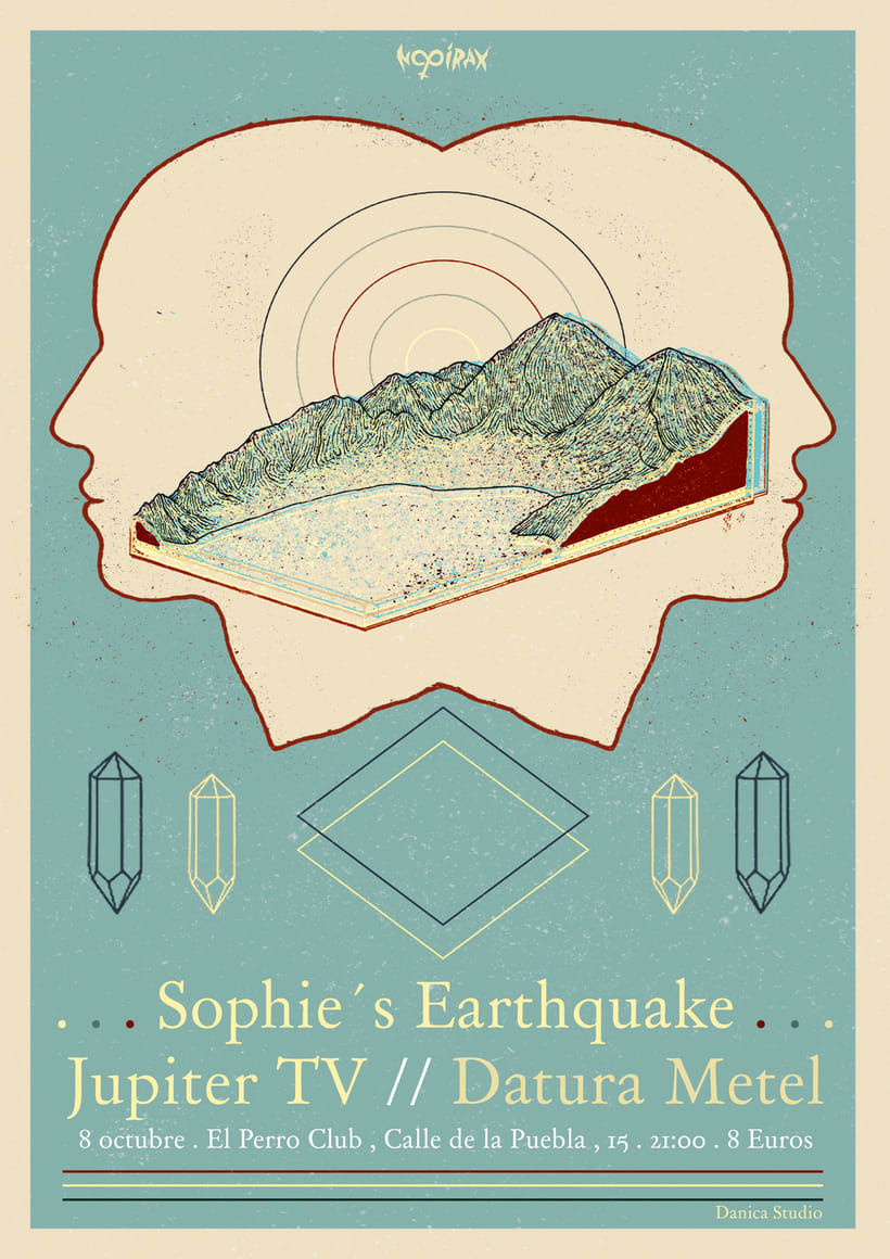 Sophie´s  Earthquake Gig Poster -1