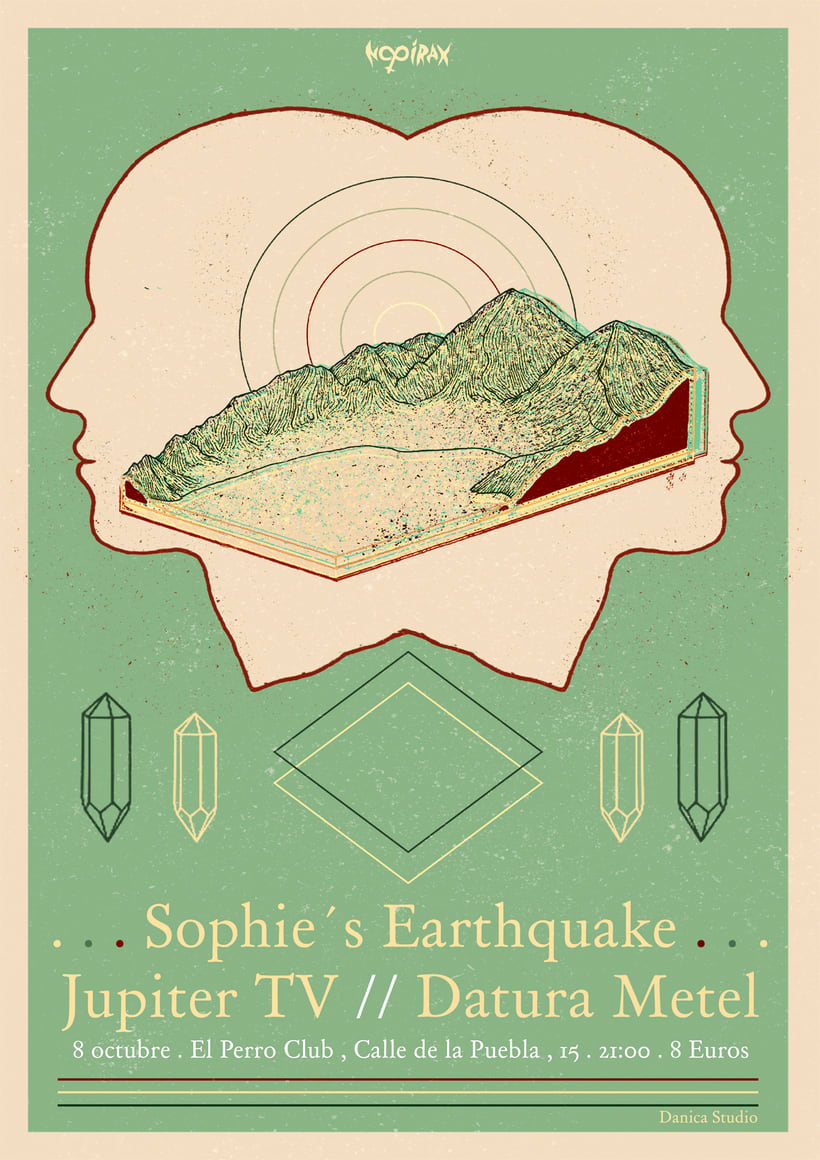 Sophie´s  Earthquake Gig Poster 0