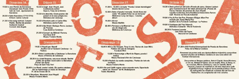 Identidad de la Semana de la Poesía de Barcelona 9