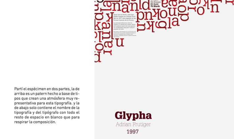 Espécimen Tipografico (Glypha) 1