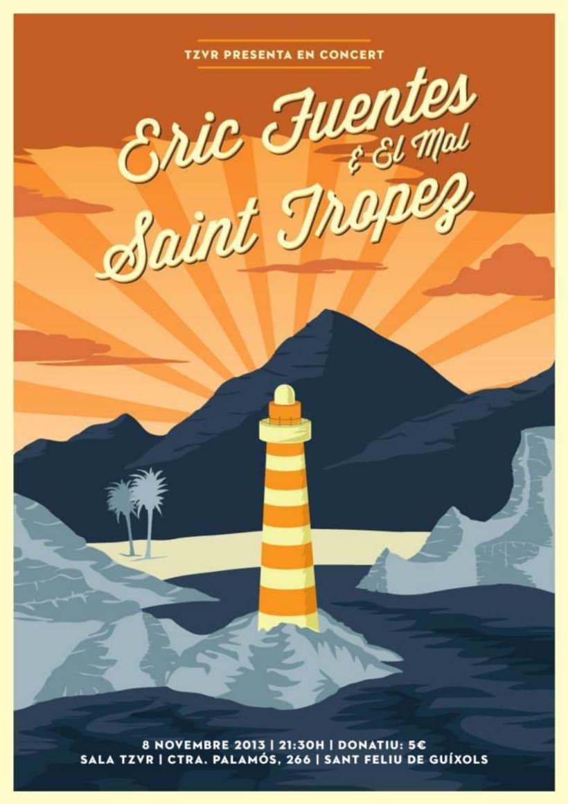 Cartel ERIC FUENTES + SAINT TROPEZ -1