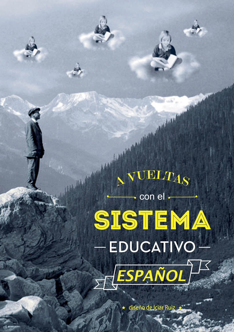 Editorial design of an information booklet about the Spanish education system. -1